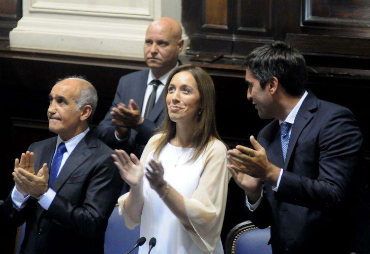 La gobernadora María Eugenia Vidal realizó el discurso de apertura de sesiones ordinarias.