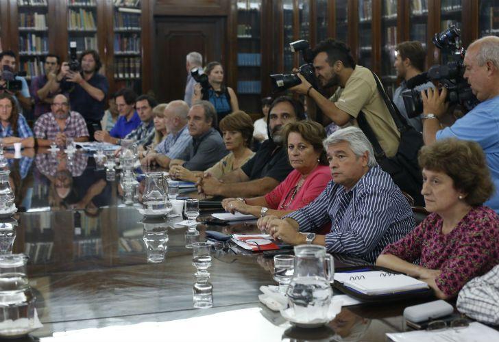 Reunión de los gremios docentes con el Gobierno.