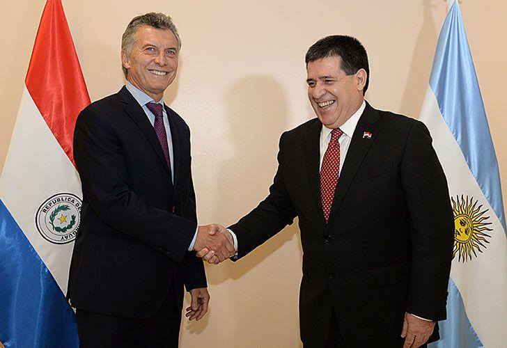 Mauricio Macri se reunió hoy con su par de Paraguay, Horacio Cartes.