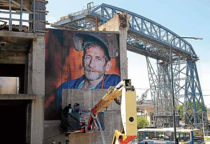 Fotos. Las gigantografías están repartidas en veinte muros de la zona de Caminito y forman parte de la segunda edición de Color BA.