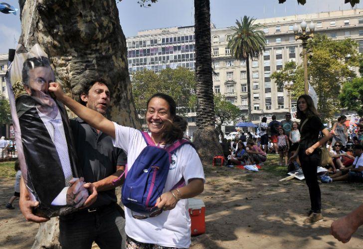 Los concurrentes al acto del día de la Memoria cargaron contra Macri y su Gobierno.