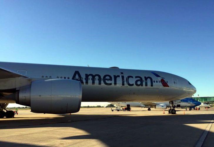 Un avión de AA quedó varado en Córdoba.