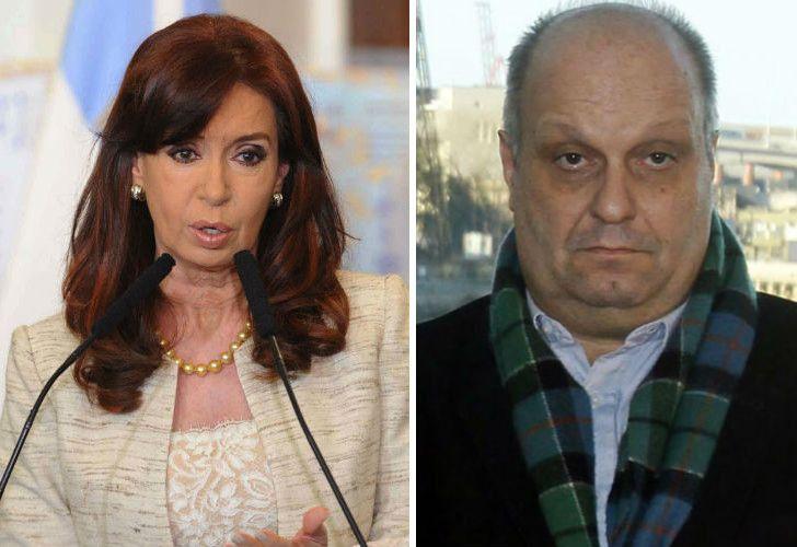 La expresidenta Cristina Fernándeaz de Kirchner y Hernán Lombardi, titular del Sistema de Medios Públicos.