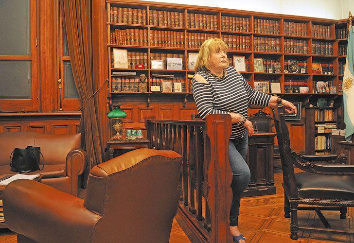 Casual. Servini recibió a PERFIL el viernes en su despacho de Tribunales, ubicado cuatro pisos abajo del de Lorenzetti.
