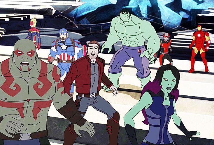 Piñas. En el capítulo de ayer, doble, los Guardianes enfrentaron a los Vengadores.