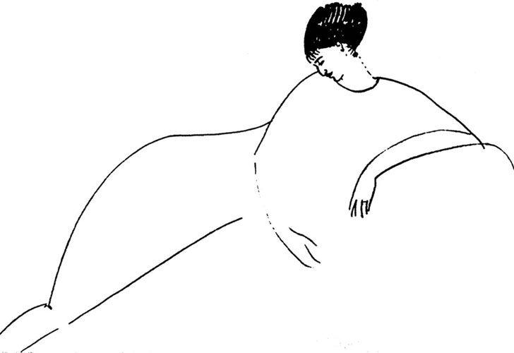 Modigliani. Así la vio el gran artista italiano, que fue su amante en París, a la poeta rusa.