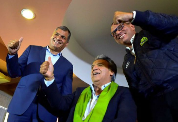 El exvicepresidente socialista Lenín Moreno y el opositor exbanquero Guillermo Lasso se adjudicaron la victoria