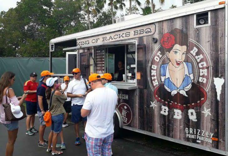 Los food trucks fueron la estrella del Miami Open