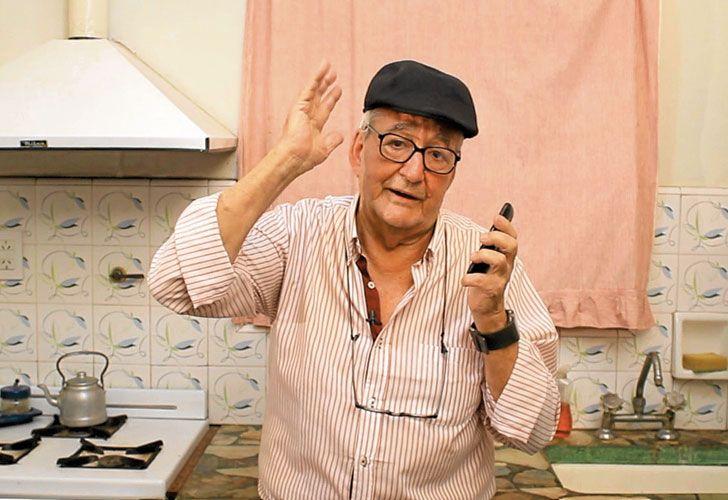 """Francisco Lefosse. Es actor y tiene 82 años. Protagoniza """"Tecnoabuelo"""", donde cuenta viejas anécdotas."""
