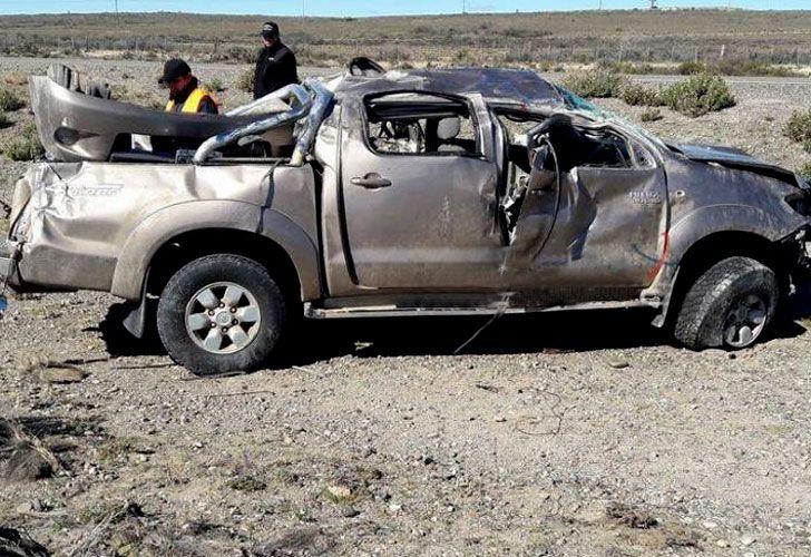 Así quedó la camioneta en la que viajaban la hija y el yerno del exministro de Defensa, Arturo Puricelli.