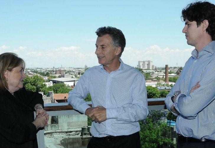 Mauricio Macri junto a Susana Malcorra y Martín Lousteau.