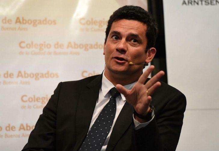 Sergio Moro, juez del Lava Jato, de visita en Argentina.