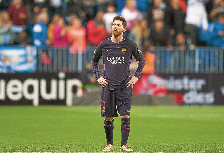 Tarde floja. Leo Messi no deslumbró como de costumbre.