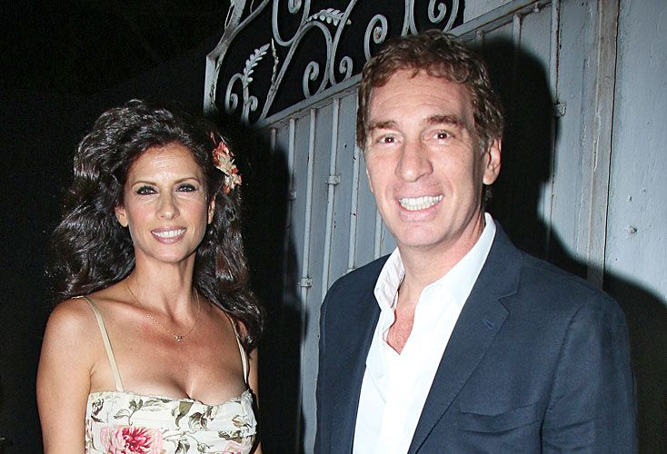 Juntos. Santilli y Analía en el galpón de Palermo.