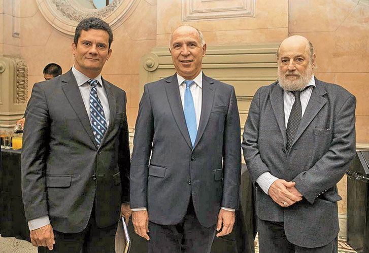 Moro, Lorenzetti y Bonadio, juntos en la Corte.