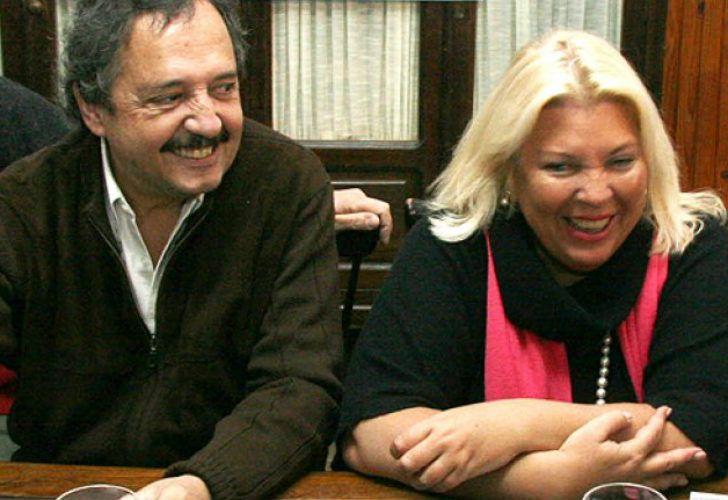 Ricardo Alfonsín y Elisa Carrió.