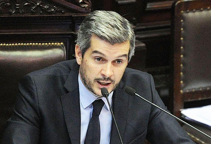Marcos Peña. El jefe de Gabinete inauguró el nuevo tono desafiante del Gobierno al cruzar al kirchnerismo en la Cámara de Diputados.