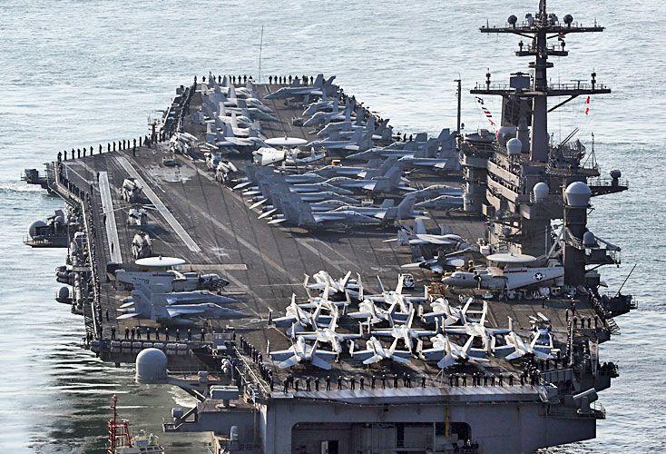 Despliegue. El portaaviones USS Carl Vinson y su grupo de ataque fueron enviados a la zona.