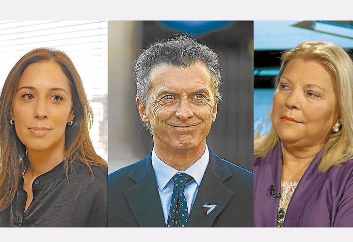 Tripode. Dos mujeres atraviesan el eje político del Presidente. Vidal lo llena de orgullo y de expectativas futuras. Carrió lo atormenta y lo apasiona aunque la recela.