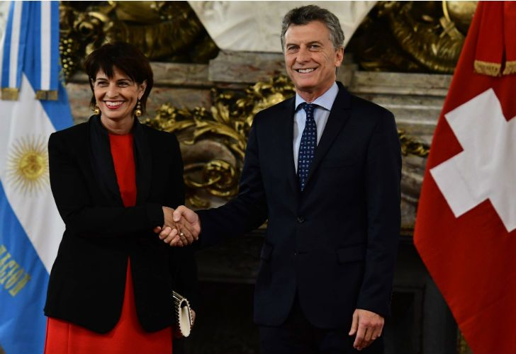 Mauricio Macri y la presidenta suiza, Doris Leuthard.