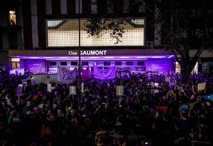 Protestas en la apertura del BAFICI.
