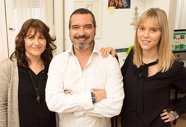 """En marcha. """"¿Qué mejor que trabajar con alguien de confianza como la madre de tus hijos y tener de socia a tu actual mujer?"""", dice el publicista Sergio Pollaccia."""