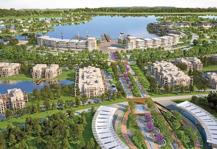 Puertos. Render que muestra cómo será el nuevo proyecto, que será incluso más grande que Nordelta, de la misma firma.