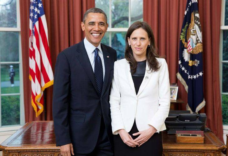 Cecilia Nahón, exembajadora argentina en Estados Unidos, junto a Barack Obama