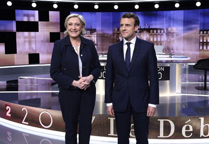 Macro y Le Pen