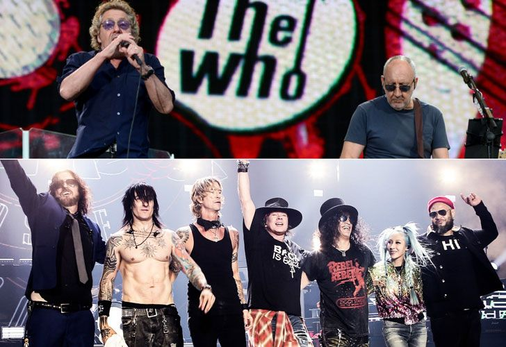 Guns and Roses y The Who