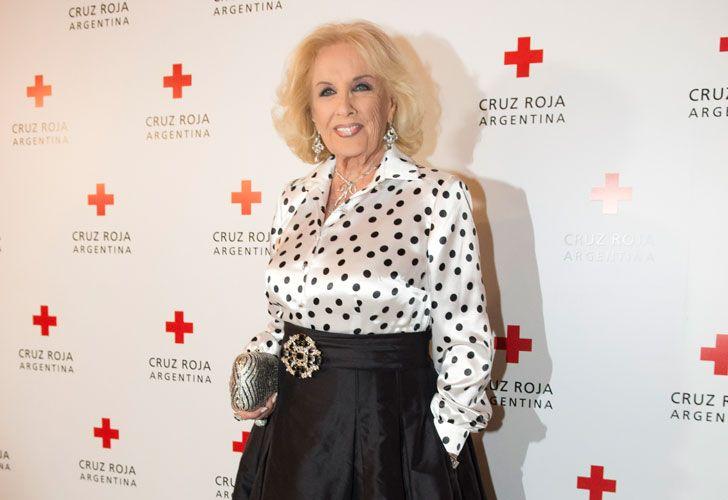 Mirtha Legrand en el festejo por el aniversario de la Cruz Roja