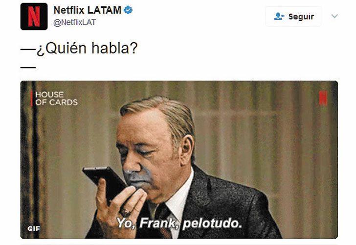 Caso emblematico. La cuenta de Netflix en Twitter hace campañas repentinas con hechos locales.