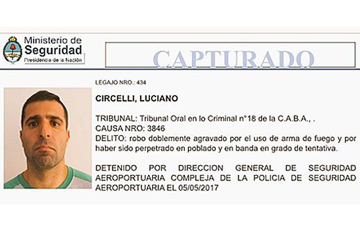 Preso. Agentes encubiertos dieron con Luciano Circelli en el lote 107. Estaba prófugo desde el 15 de mayo del año pasado.