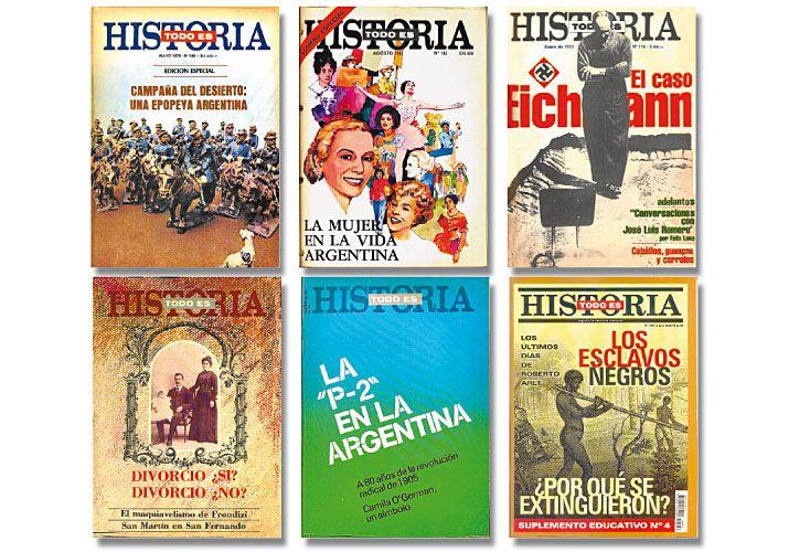 Hitos. Algunas de las tapas emblemáticas de una revista que aborda cuestiones históricas clave –y siempre polémicas– para nuestra sociedad,  con rigor y claridad.