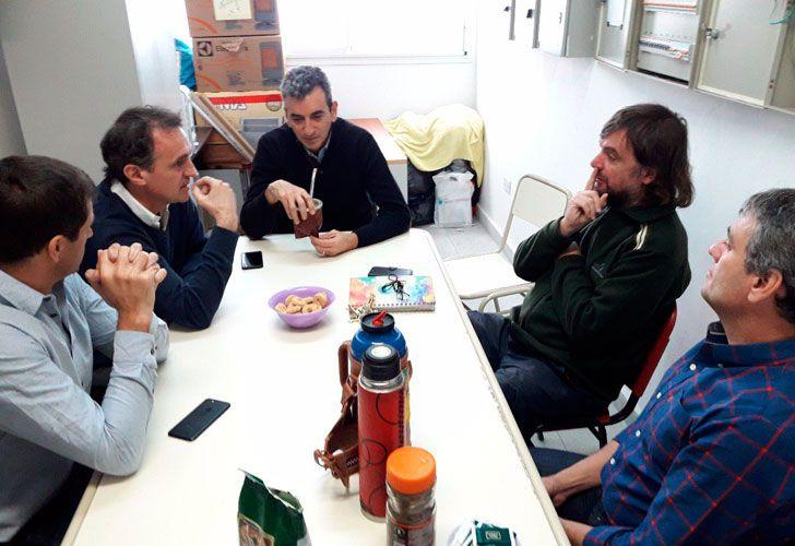 Florencio Randazzo junto al padre Pepe