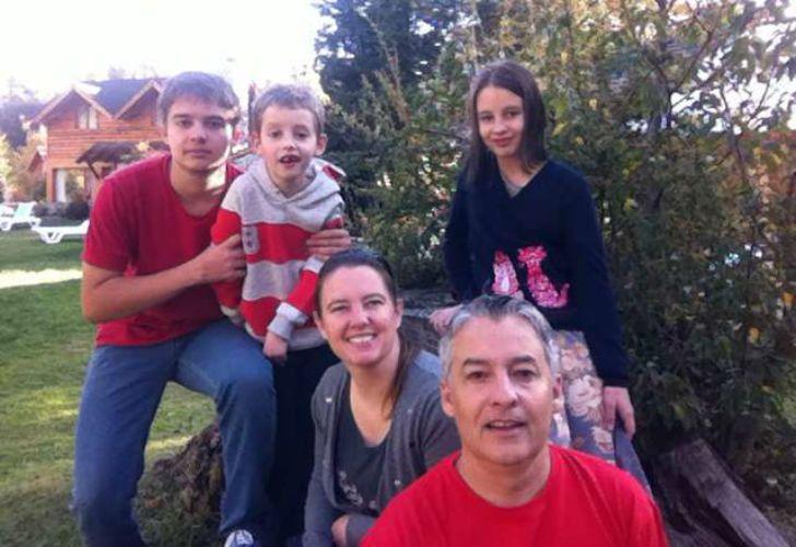 La familia González: Gustavo, Laura, Matías, Giuliana y Juan Marcos.