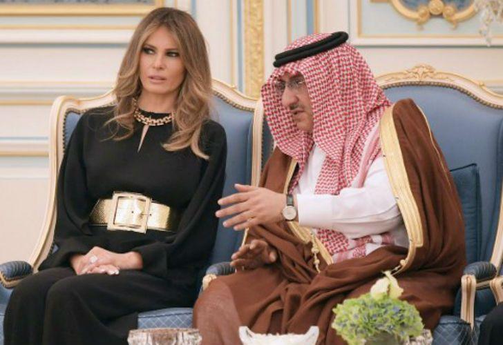Donald Trump y su esposa Melania Trump en Arabia Saudita.