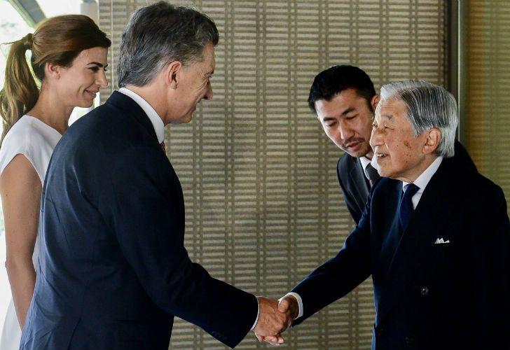 Macri y Awada en su último día en Tokio.