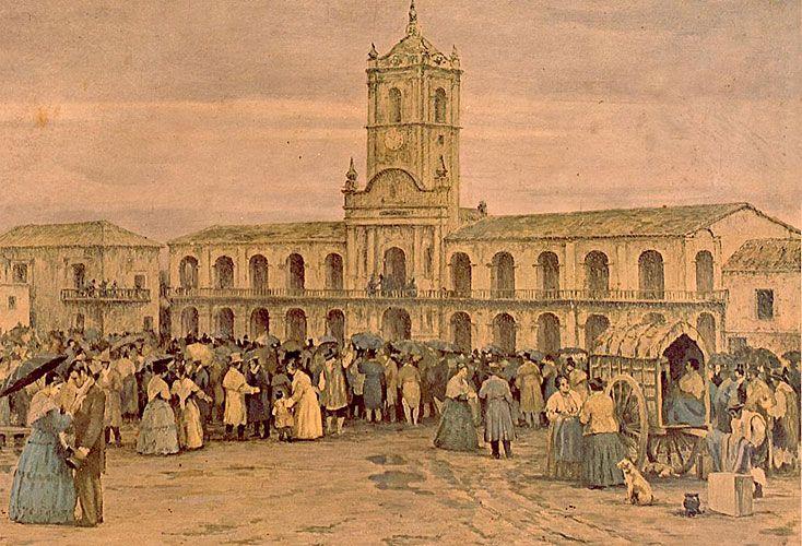 Lluvia. En el movimiento popular había incipientes formas de lo que hoy se llama piquete –los chisperos– y patotas formadas por el pobrerío, los orilleros y los esclavos.