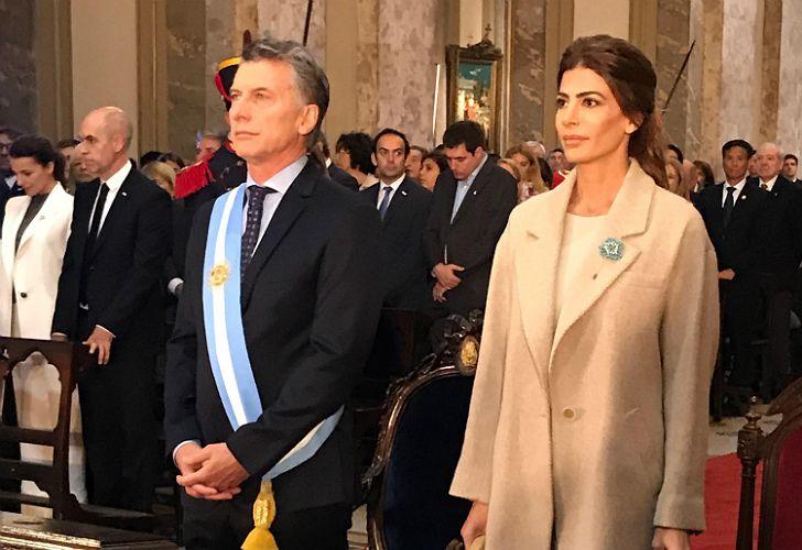 Macri y Awada en la Catedral, durante el Tedeum