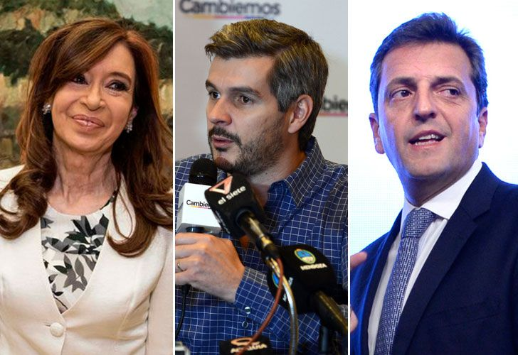 Cristina Kirchner, Marcos Peña y Sergio Massa