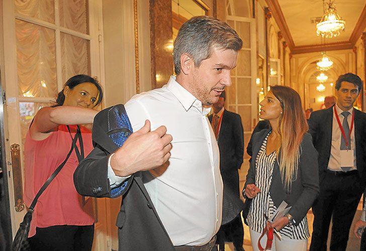 Vocero. Marcos Peña aseguró que si hubo sobornos fueron a parar al kirchnerismo y no al PRO.