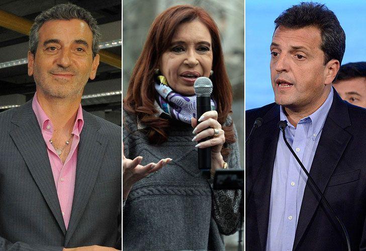 Randazzo, CFK y Massa