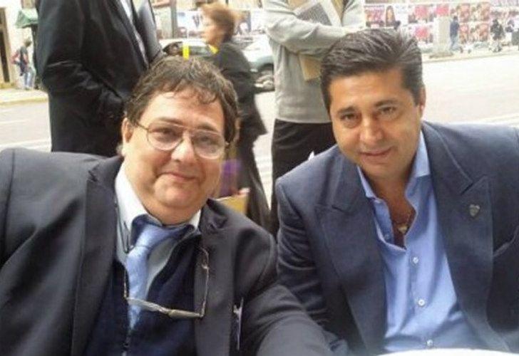 Daniel Angelici junto a Jorge Rizzo.