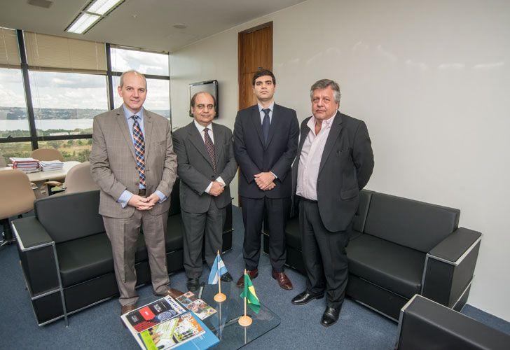 Fiscales argentinos se reunieron con el vice procurador general, José Bonifacio Borges de Andrada, en Brasilia.