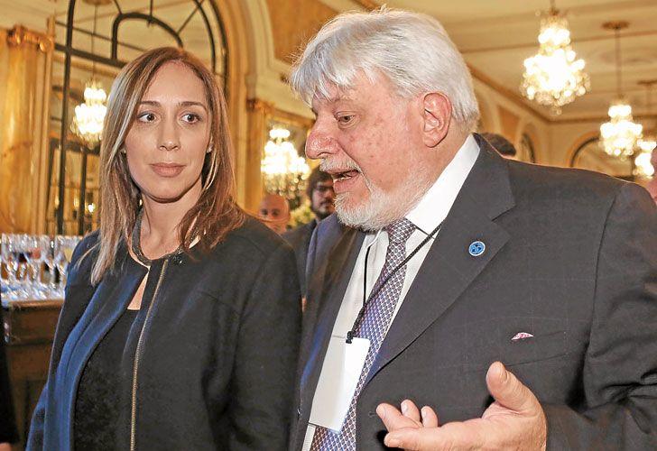 Modelo. Vidal, ante empresarios, se mostró como la vocera de la economía en la era Macri.