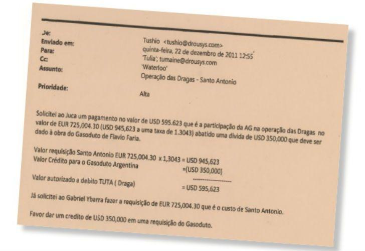 En uno de esos correos electrónico queda claro que el ex CEO de Odebrecht en Argentina, Flavio Faria, era quien ordenaba que se pagara a los funcionarios argentinos.