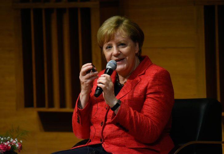 Angel Merkel en el polo científico