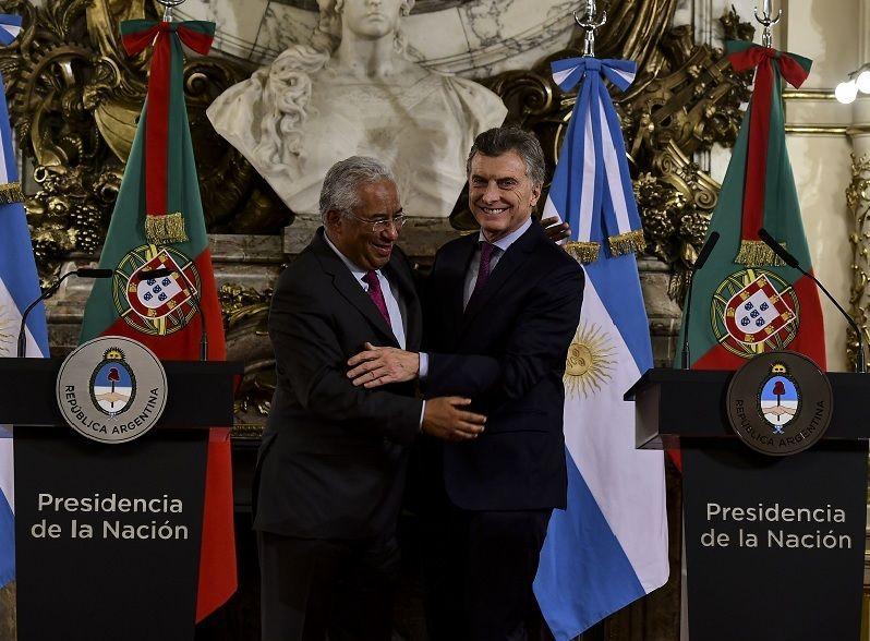 Conferencia de prensa del presidente, Mauricio Macri, y el primer ministro de Portugal, Antonio Costa.