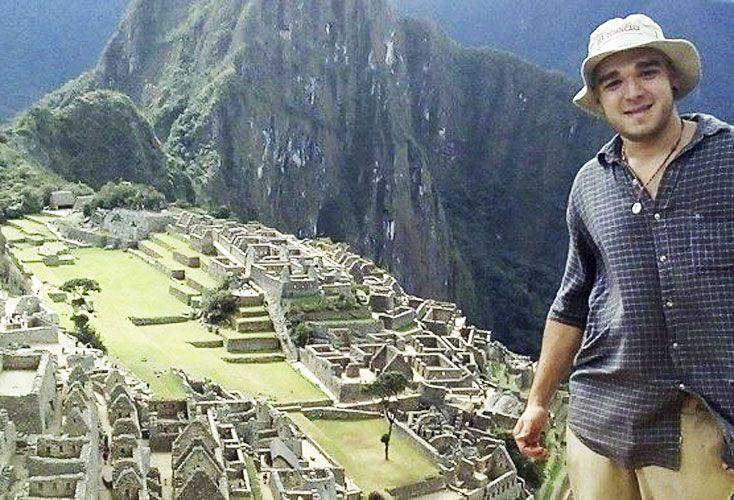 Federico Farías mientras viajaba por Perú.